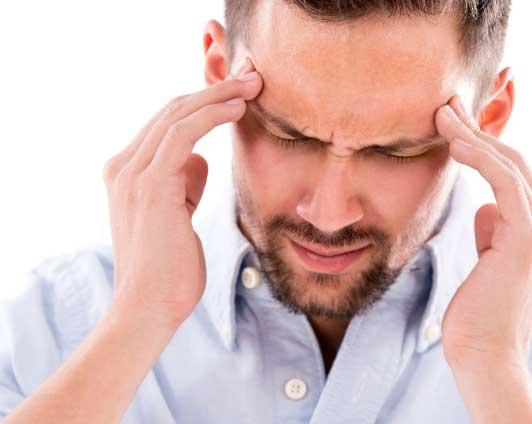 person with a headache